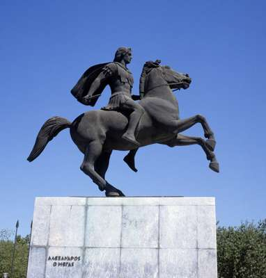 Alexander the Great statue in Thessaloniki