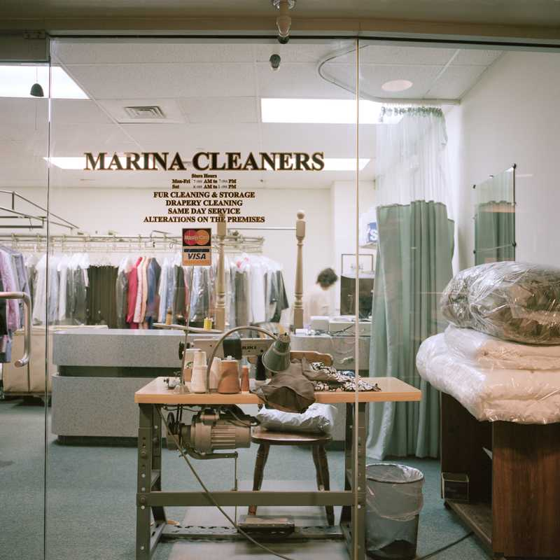 Marina City communal dry cleaners