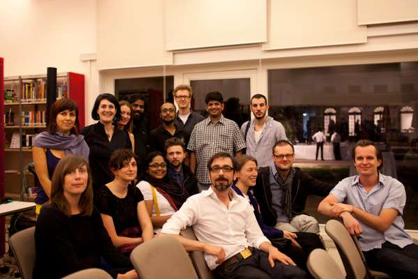 Indian and European filmmakers exchanging ideas at the New Delhi Institut