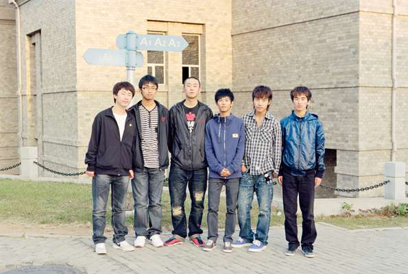 Students at Neusoft Information Institute, a private university