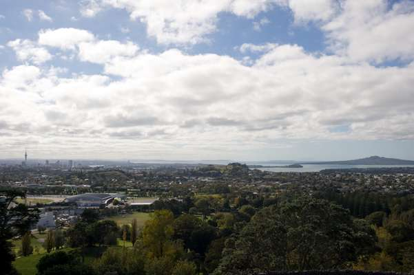 Auckland (CBD is in the left of picture)