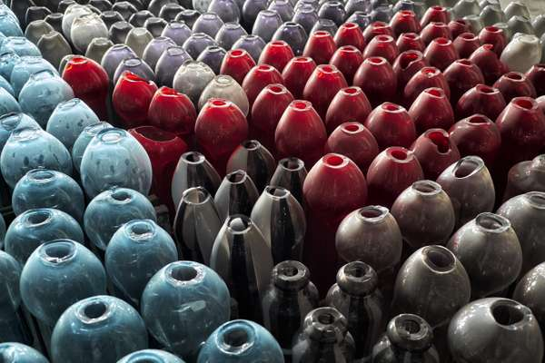 Vases waiting to be polished