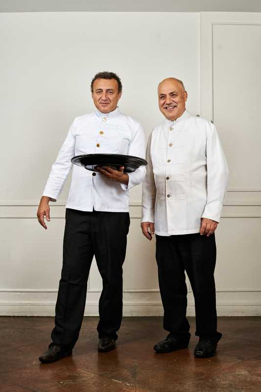 Restaurant staff at the club
