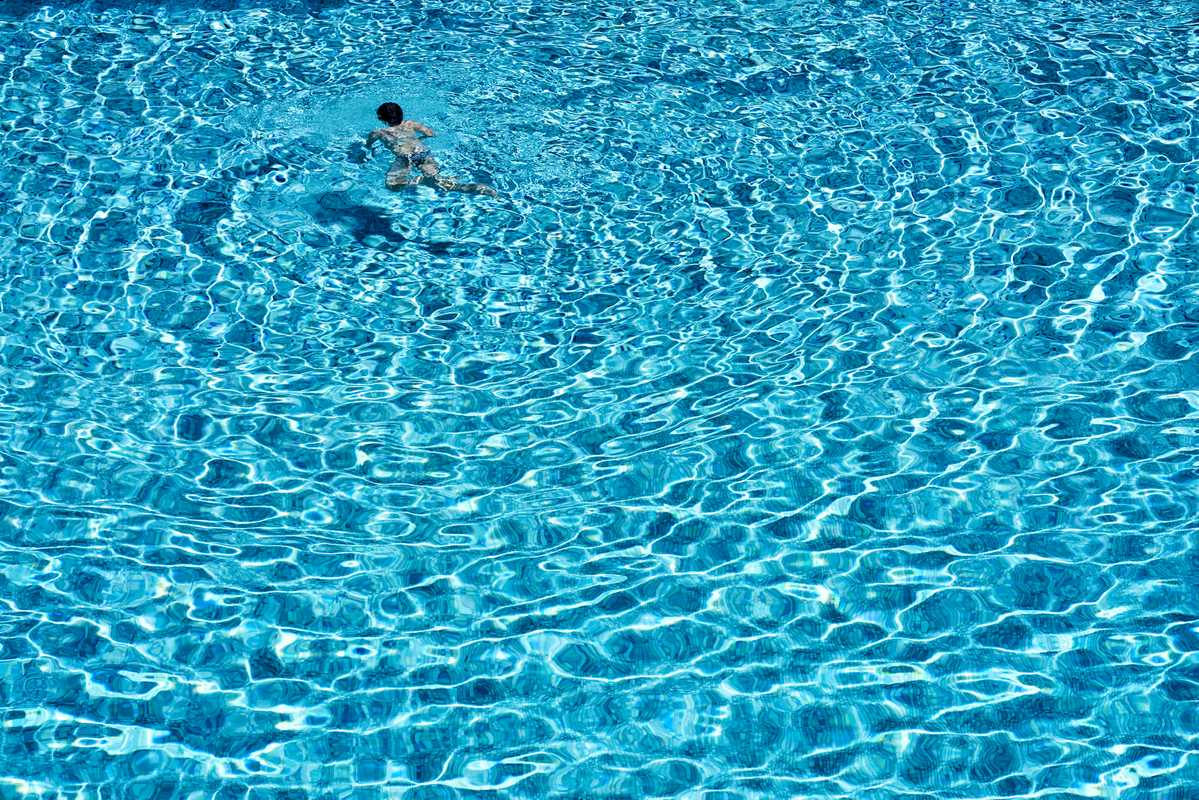 Swimming a few lengths in one of the club's three pools