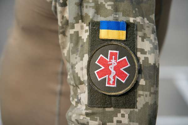 Shoulder flash on the arm of a Ukrainian medic