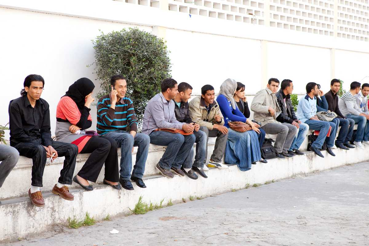Students at University of Tunis