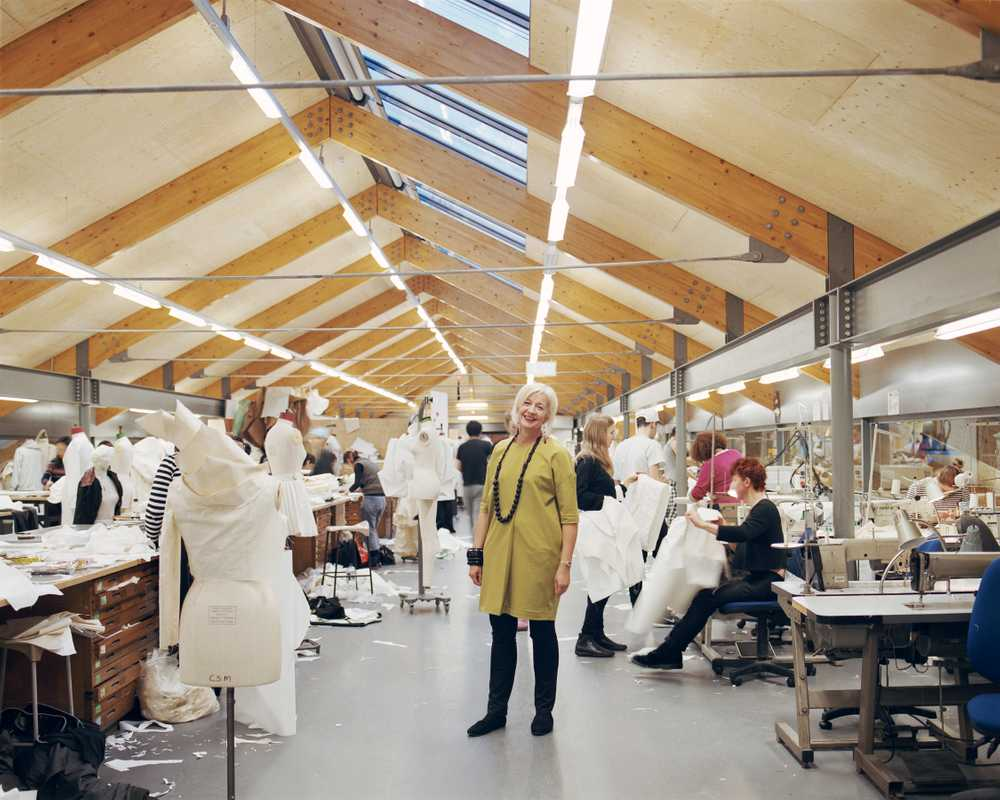 Anne Smith, dean, School of Fashion and Textiles, in the womenswear studio