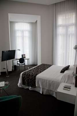 Recently renovated room at the Plaza Fuerte Hotel in the old town