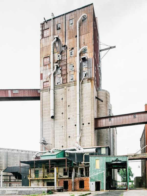Former grain mill in Silo City