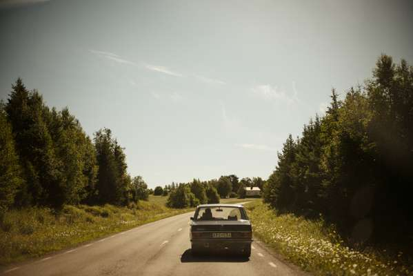 Driving through rural Jämtland