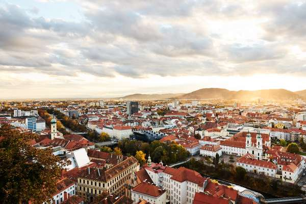 Graz as seen from the Schlossberg