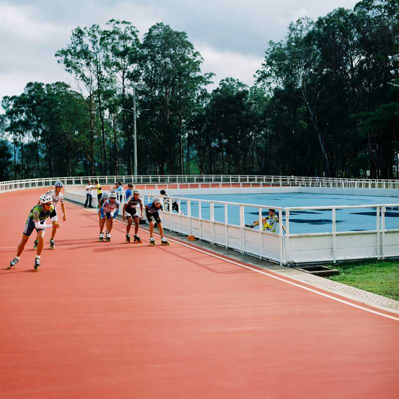 Early-morning session for Costa Rica's national speedskating team