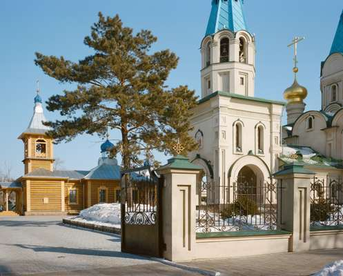 Orthodox cathedral in Blagoveshchensk