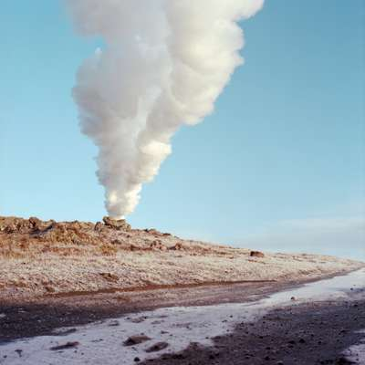 Emissions from the geothermal pools