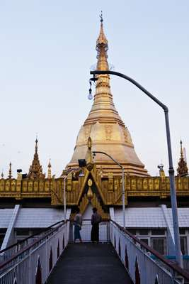 Sule Pagoda in downtown Rangoon