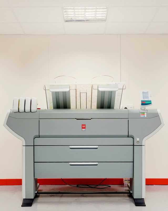 Inkjet printer for bespoke map printing