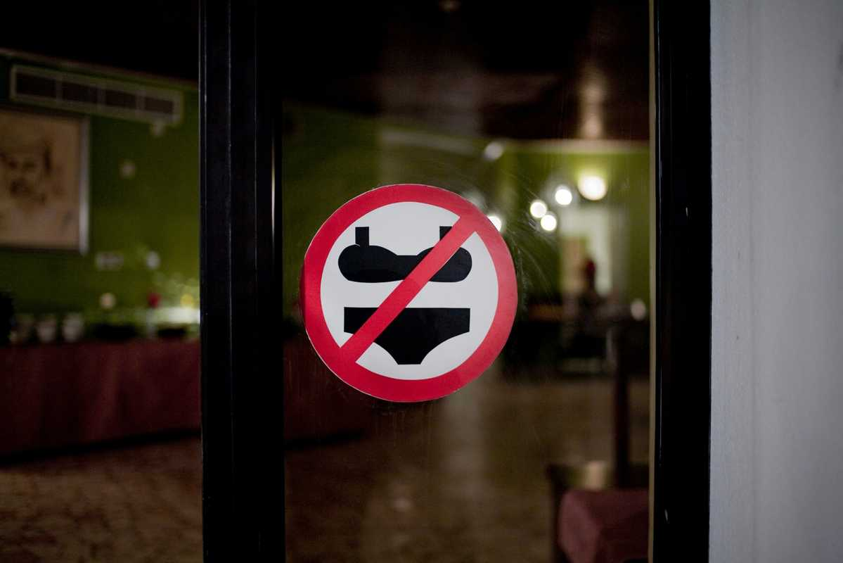 Even places which serve alcohol have certain restrictions
