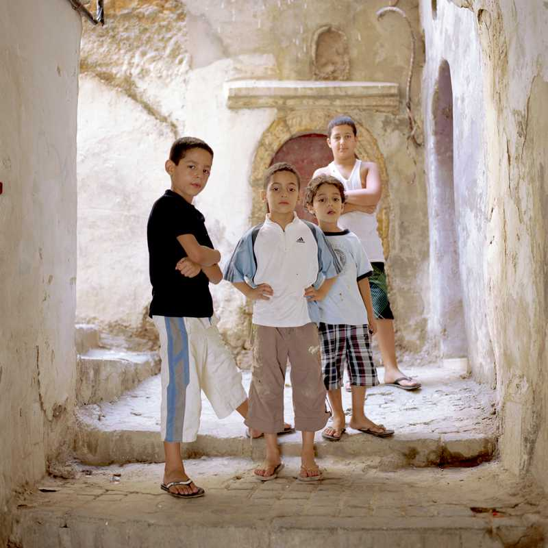 Children play in casbah streets