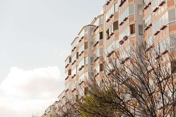 Prefabricated high rises in Berlin's Marzahn district