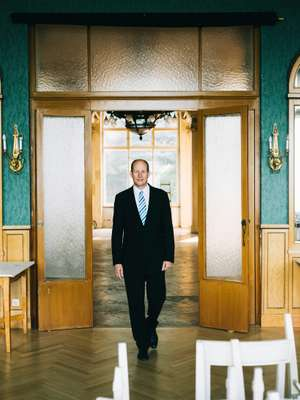Edgar Bauer, who manages the Südbahnhotel