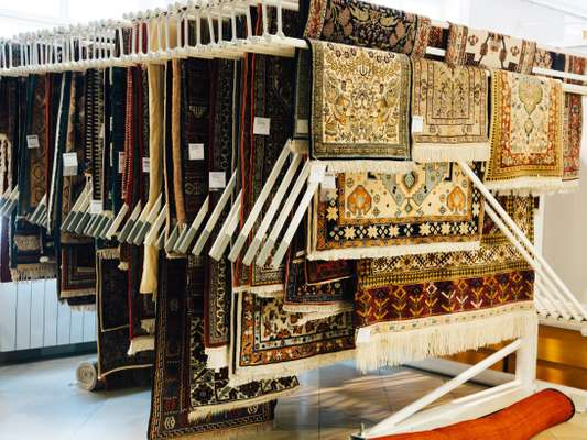 Oriental rugs from the top-floor fixed-price area