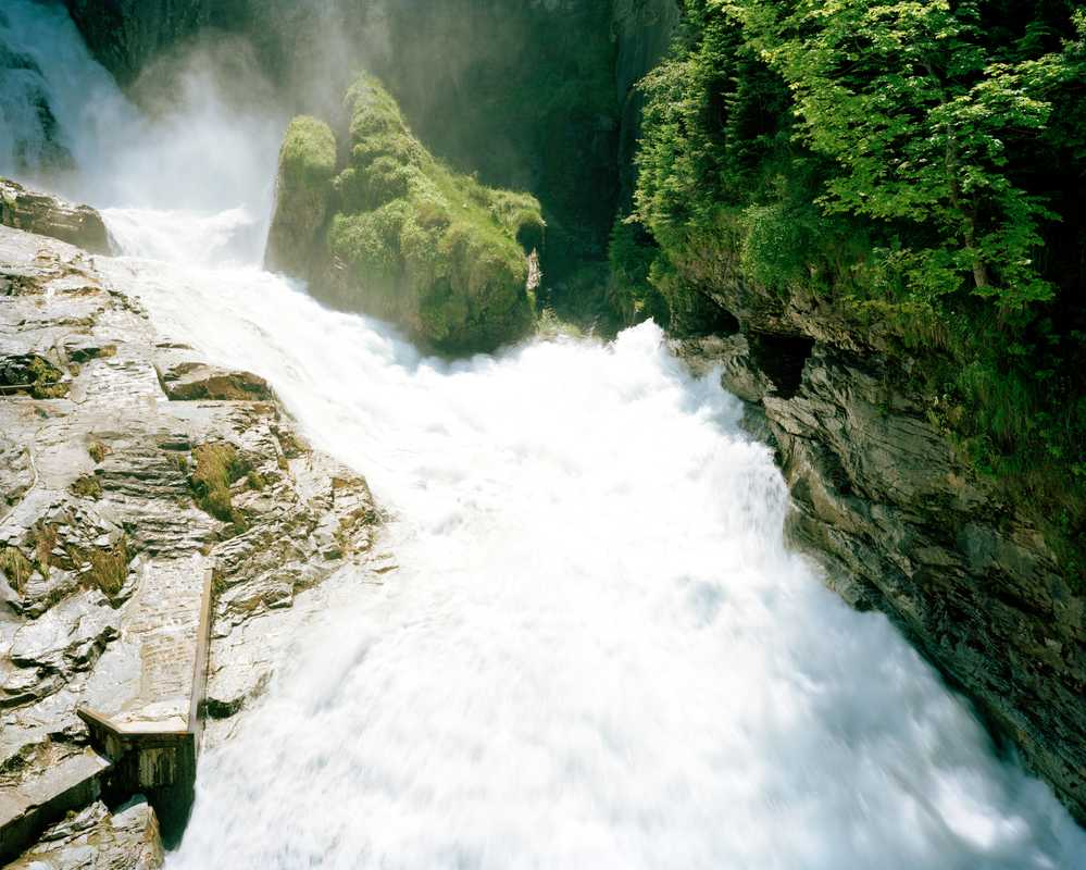 The waterfall is the heart of Bad Gastein
