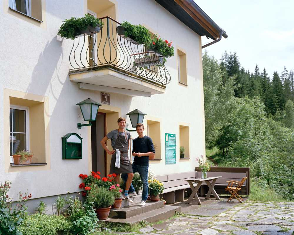 Jan Breus (left) and Stefan Turowski outside the Waldhaus Rudolfshöhe