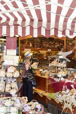 Viktualienmarkt is one of the largest open-air food markets in Europe