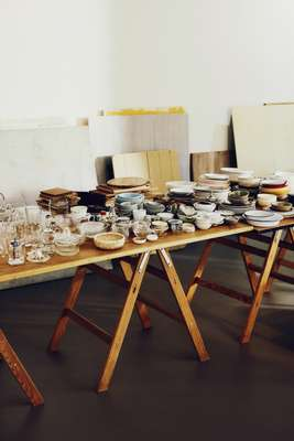 Photo props, including about 2,000 plates