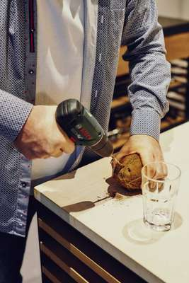 Drilling for coconut water