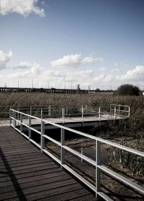Rainham footbridge over marshland