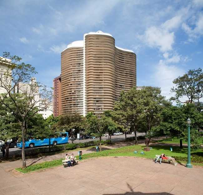 Niemeyer building and Liberdade Square