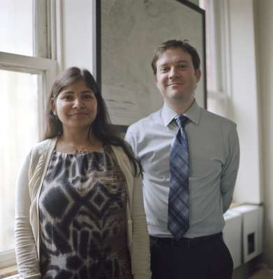 Monika Jain, project manager for Zone Green and Howard Slatkin, director of sustainability