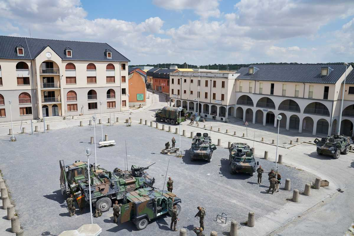 Jeoffrécourt is part of Cenzub, the largest training area for urban warfare in Europe