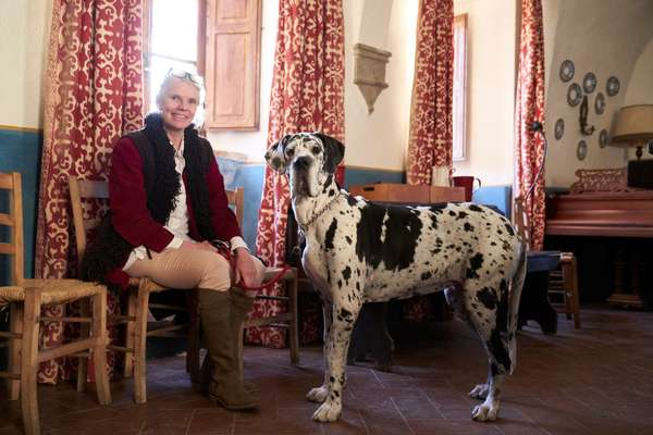 Owner Charlotte Horton and her great dane