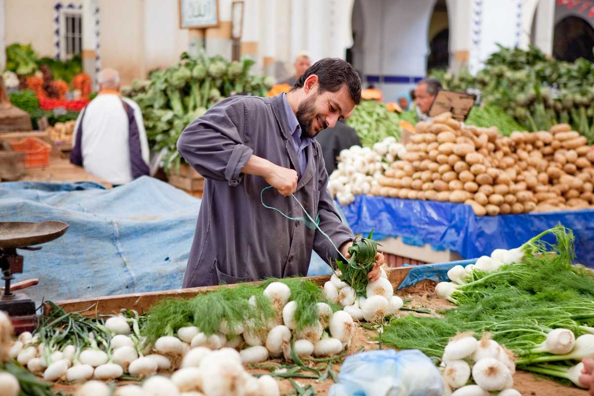 Market in central Tunis