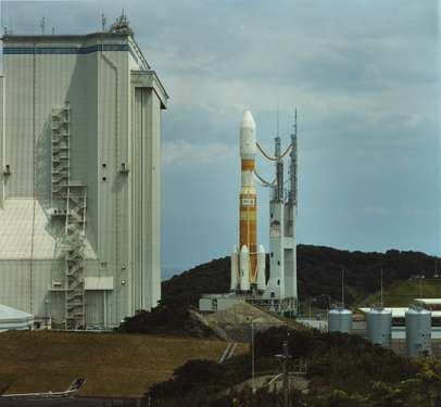 Rocket carrying Korean satellite being prepared for launch