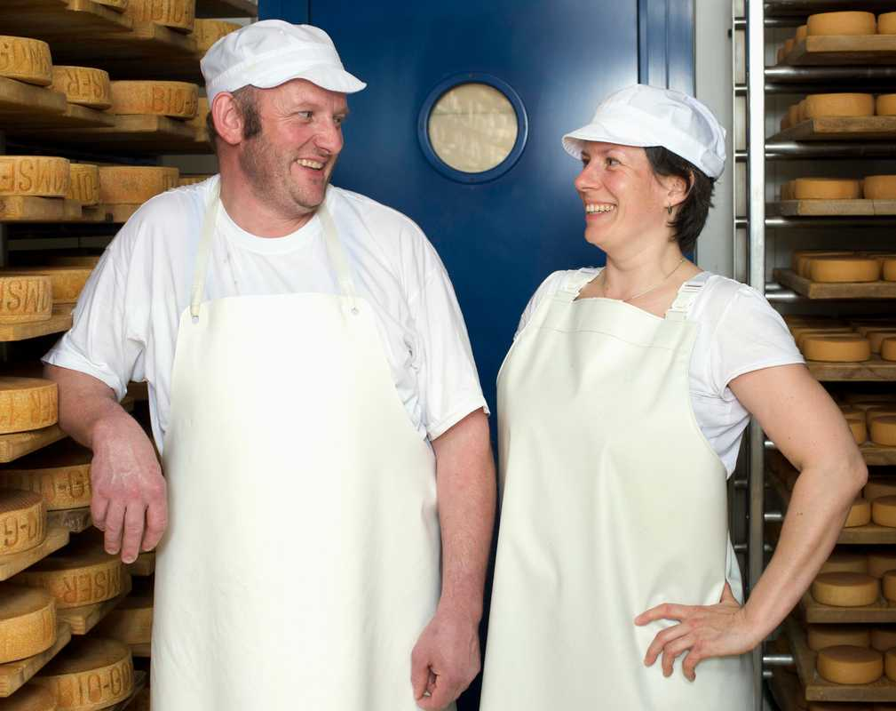 Cheesemakers Gerhard Zürcher and Ute Schoenenburg