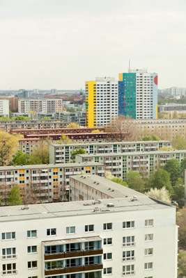 High-rise area in Lichtenberg, where many former workers from Vietnam still live