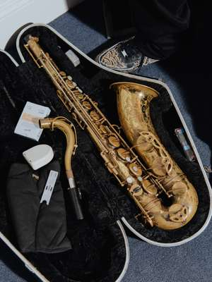 This Selmer Mark VI saxophone was once Washington's father's