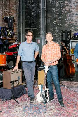 Calexico co-founders John Convertino (left) and Joey Burns