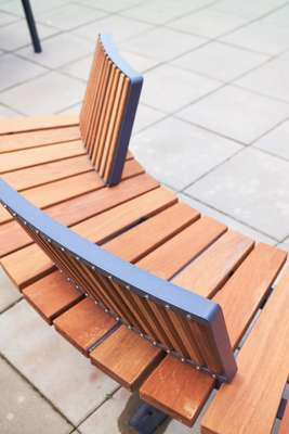 Mmcité bench with backrests