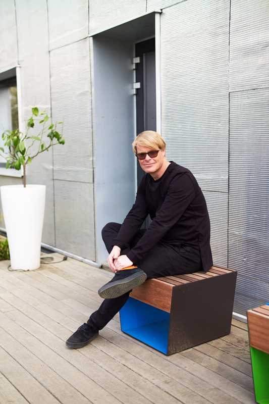 David Karasek, co-owner and lead designer of Mmcité's street-furniture division Mmcité 1