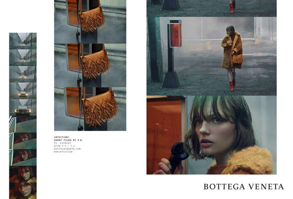 Interview Magazine', June 1990; Bottega Veneta fall/winter 2018 ad campaign