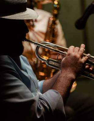 Blowing brass at the Spotted Cat on Frenchmen Street