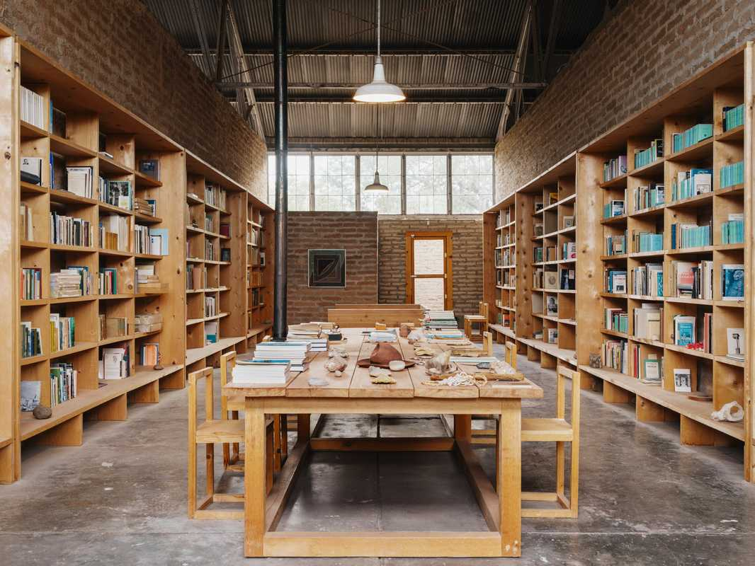Judd's library in Marfa, just as he left