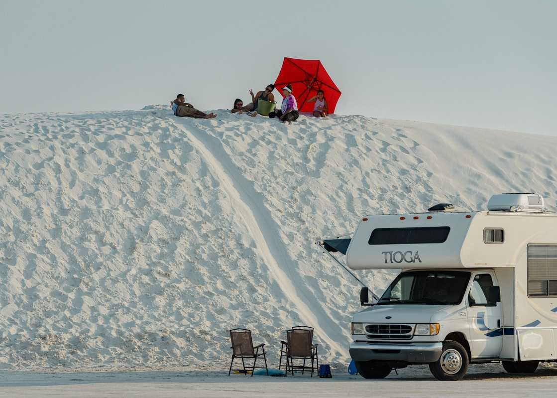 Sunday afternoon at White Sands, New Mexico