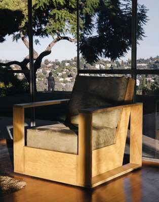 Plywood chair in the style of Schindler, made by Osheroff's son