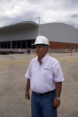 Entrepreneur Oscar Isaza on the site where new port facilities are being built