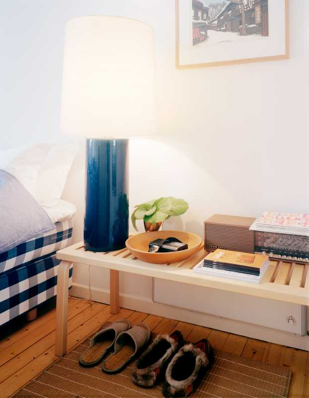 Hästens beds, Artek furniture and a bit of elk in the bedrooms